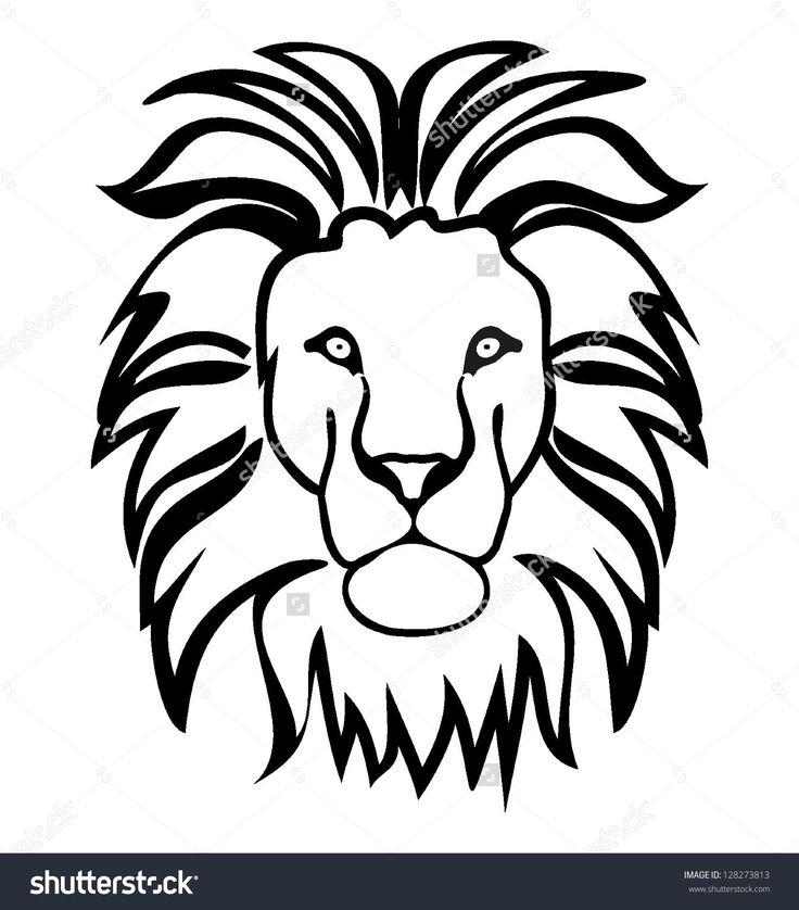 Картинки морды льва для раскраски