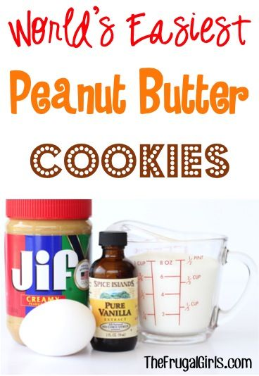 World's Easiest Peanut Butter Cookies Recipe!! ~ from TheFrugalGirls.com ~ just 4 ingredients and SO delicious... this easy peanut butter cookie recipe is always a hit! #recipes #thefrugalgirls