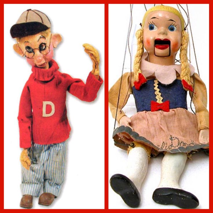 Dilly Dally and Heidi Doody of the Howdy Doody Show (1947 ...