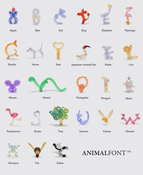 balloon animal alphabet