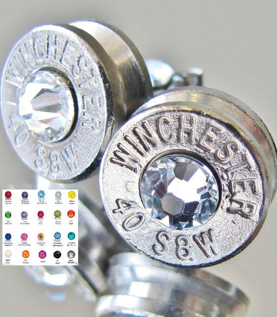 FREE SHIPPING 40 S&W Winchester Bullet Earrings by BulletVarieties, (B) this is my favorite ones