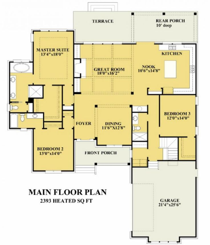 378 best images about house plans on pinterest for Traditional open floor plans