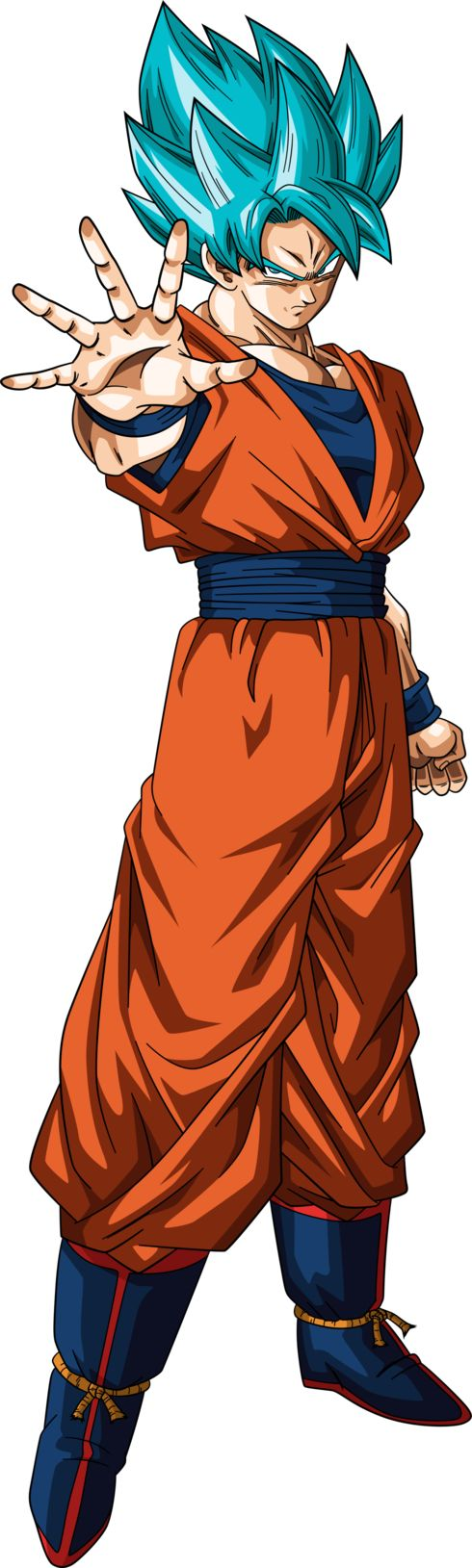 The main protagonist and hero of the Dragon Ball manga series and animated television series created by Akira Toriyama. He is one of the survivors of the extinct Saiyan race. He was sent as a baby to planet Earth in order to destroy it. When he arrived he was a violent kid, due to his warrior nature. However, he suffered an accident which made him lose his memory. He became a kind and calm kid. Trained, he became a talented martial artist and world's greatest defender.