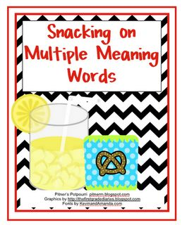 Free! Snacking on Multiple Meaning Words thanks to pitnerspotourri!