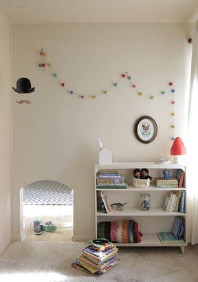Secret passage ways for kids to visit each other or go to the playroom