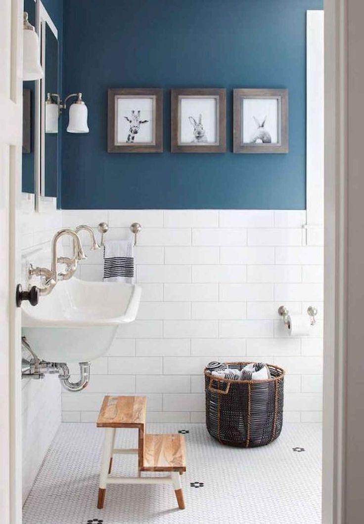 110 supreme farmhouse bathroom decor ideas  bathroom wall