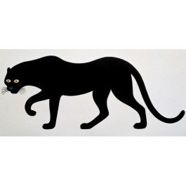 "In sleek and seductive lines, lauded Italian modernist Enzo Mari creates a bold and graphic interpretation of ""La Pantera,"" the panther. Part of the Nature Series, ""La Pantera"" (1965) is silkscreened and unframed. Each poster comes with two PVC bars for wall-mounting. Printed in Italy."
