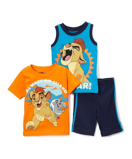 Childrens Apparel Network Lion Guard Orange Tee Set - Toddler | zulily