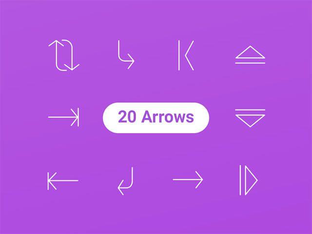 20-arrow-icons