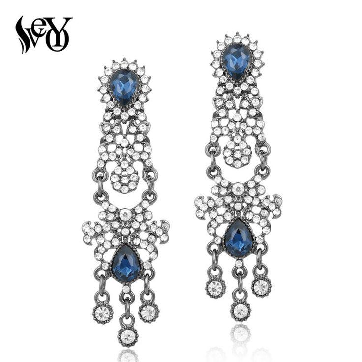 VEYO Full of Rhinestone Earrings for Woman Drop Earrings Crystal Earrings Eethnic High Quality Brincos Pendientes