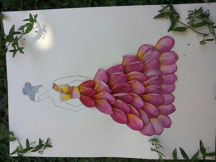Desain ilustrasi mahkota bunga