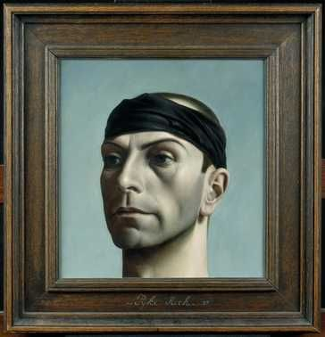 Pyke Koch, zelfportret met zwarte band (1937)