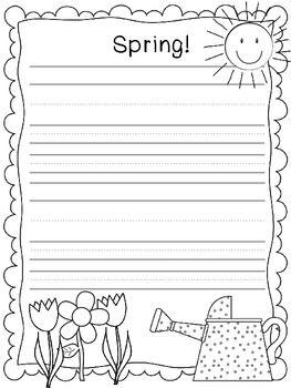Fun Spring Writing Paper!