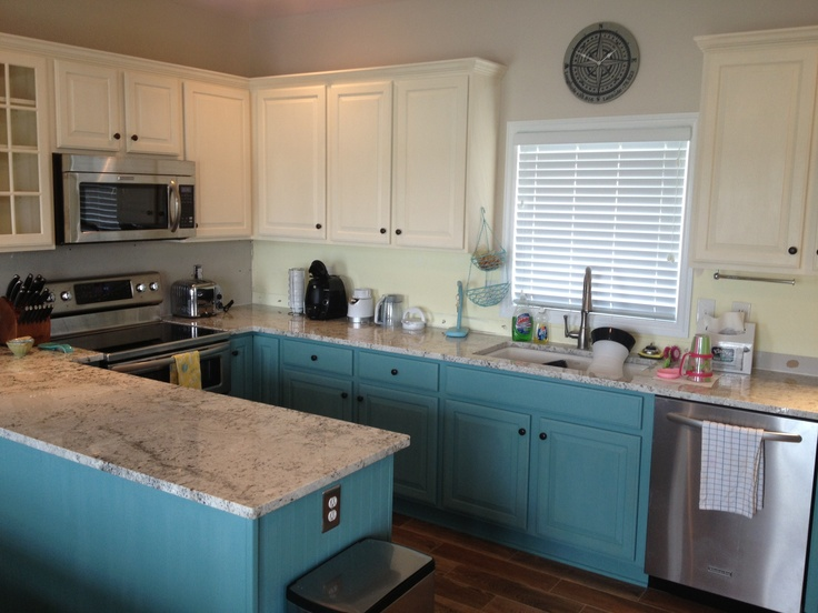 Finally finished chalk paint kitchen cabinets annie for Chalkboard paint kitchen cabinets