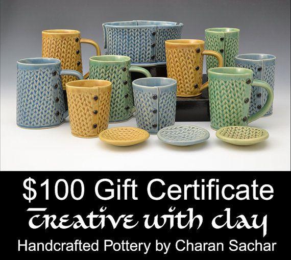 100 dollari buono regalo creativo con argilla di Creativewithclay