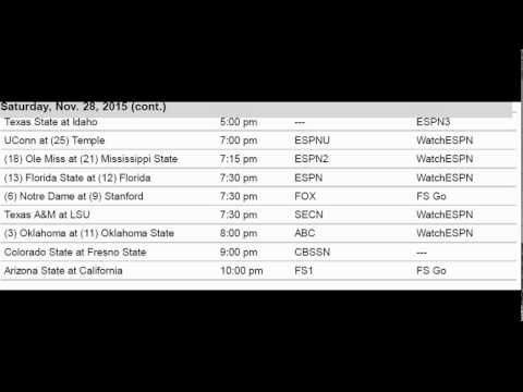 college football on thanksgiving week 2 college football schedule