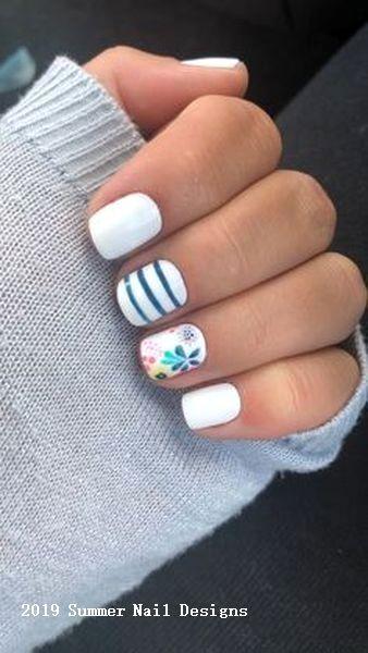 33 Cute Summer Nail Design Ideas 2019 #naildesigns #nail