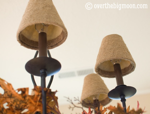 Burlap Lampshade DIY Makeover
