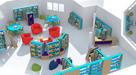 Opening the Book library floor plan layout