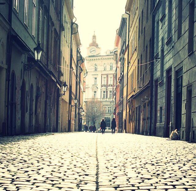 Beautiful lane in Prague