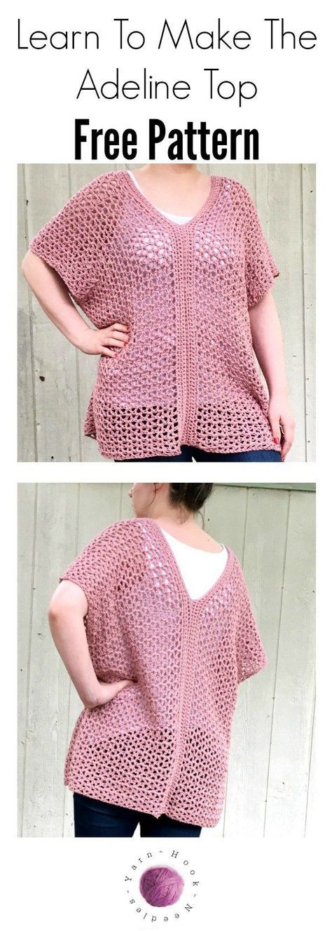 Need a quick project to make for your next beach trip? Check out this free, easy pattern for a crochet pullover top! Easily adjustable for all sizes!