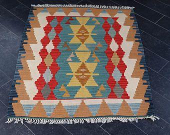 Aztec Kilim Rug, Soft Kilim Rug, Handwoven Kilim Rug, 2.7 x 3.3 Bohemian Kilim Rug, Turkish Kilim Rug, Anatolian Kilim FREE SHIPPING No 795 -    Edit Listing  - Etsy
