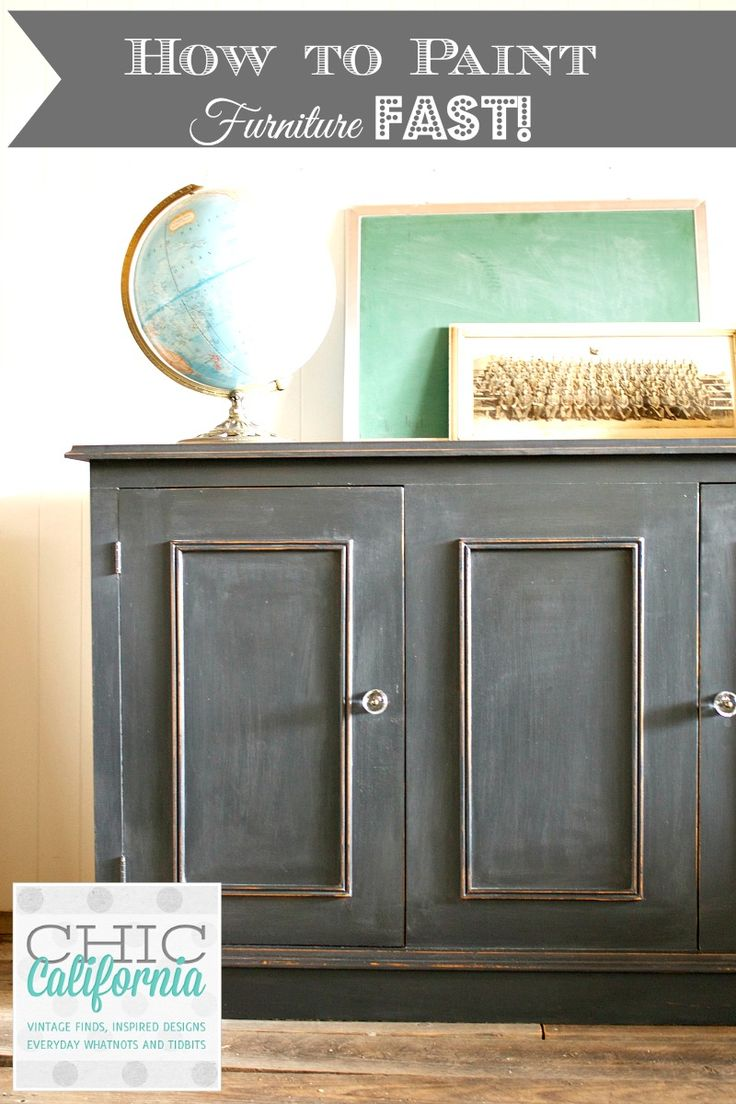 How To Paint Furniture Fast Using Chalk Paint