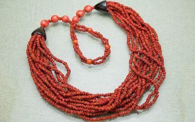 Biojóias, biojewelry, sementes, feito à mão, vermelho