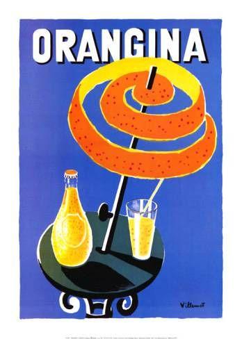 Orangina | Vintage food & drink poster | Retro advert #Vintage #Retro #Posters #Affiches #Food #Drinks #Carteles #deFharo #Ads