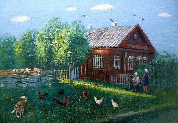 картинки на тему русская деревня милого вздернутого носика