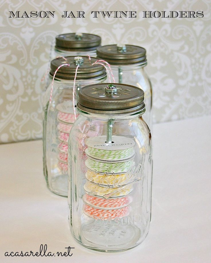 u0027A Casarella Mason Jar Twine Holders Two
