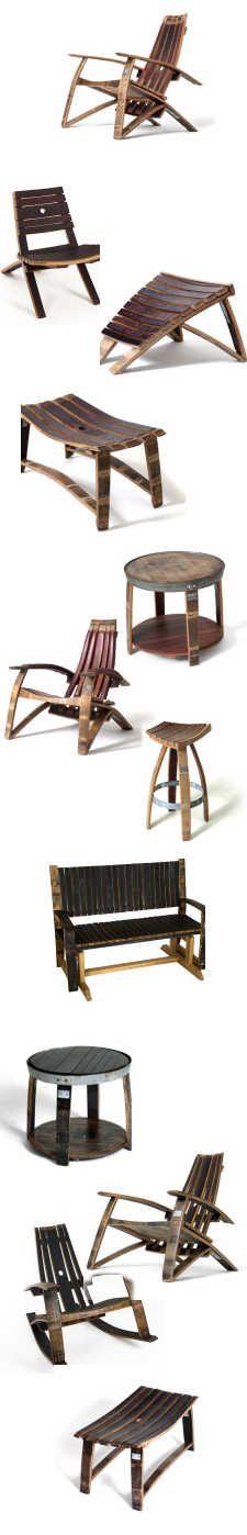 Wijnton hergebruik als tafels en stoelen.