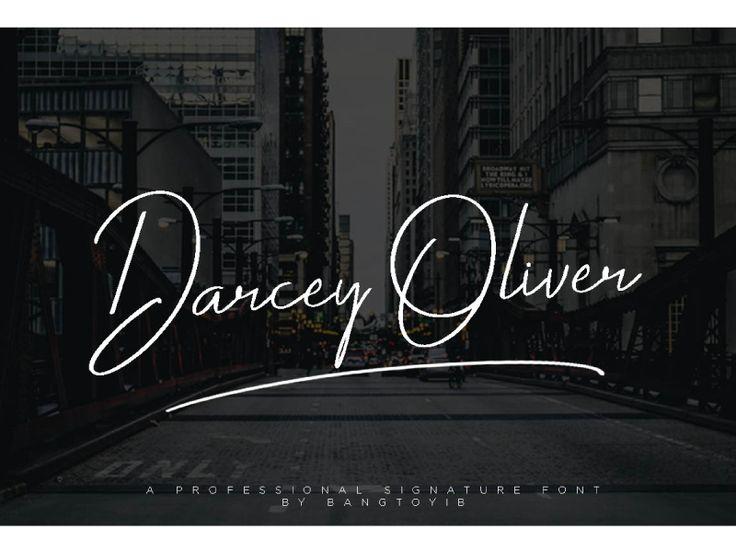 Darcey Oliver Signature Font by Eldertype Studio