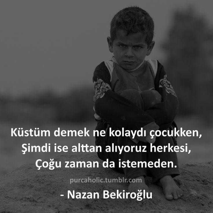 Küstüm demek ne kolaydı çocukken, Şimdi ise alttan alıyoruz herkesi, Çoğu zaman da istemeden. - Nazan Bekiroğlu #nazanbekiroğlu #yazar #küsmek #duygu #his #çocuk #sözler #anlamlısözler #güzelsözler #manalısözler #özlüsözler #alıntı #alıntılar #alıntıdır #alıntısözler #şiir #instaşiir #edebiyat #felsefe #augsburg #münchen #munich #stuttgart