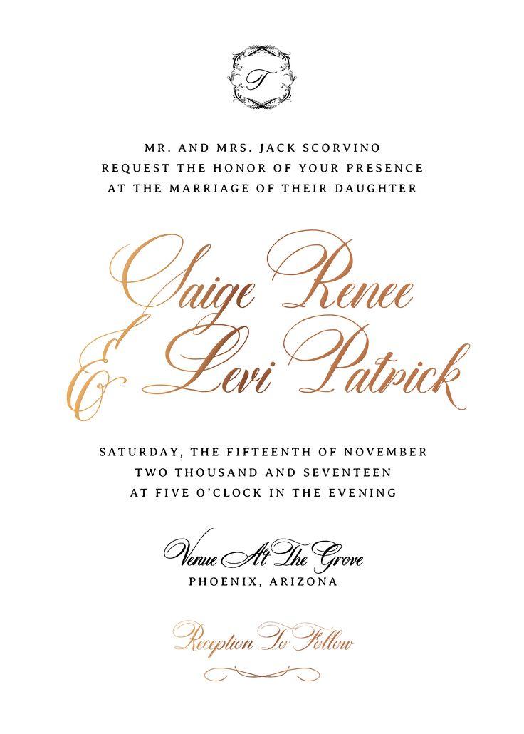 Formal Wedding Invitations, Traditional Wedding Invitations, Simple Wedding  Invitations, Fancy Wedding Invitations,