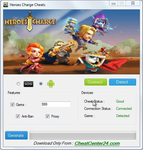 Heroes Charge Cheats