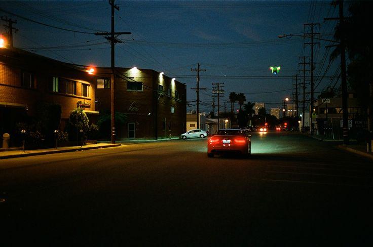 Night, street, car, audi
