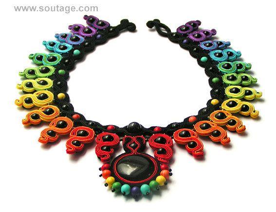 Pulse necklace by SoutageAnka on Etsy, zł660.00