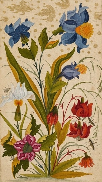 Flowers by Anonymous -- From Dara Shikoh, a collection of paintings and calligraphy assembled during the 1630s by Dara Shikoh (1615-59), the eldest son of the Emperor Shah Jahan