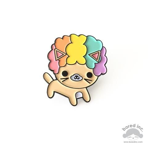 Afro Cat Rainbow Edition Enamel Pin  #pin #pingame #enamelpin #lapelpin