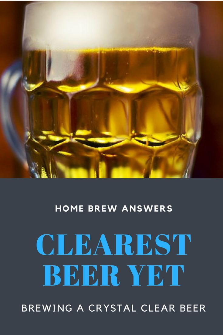 Brewing a clear beer is a key quality indicator. This guide points out some tweaks to you home brewing process to #brew a clear #beer #homebrew