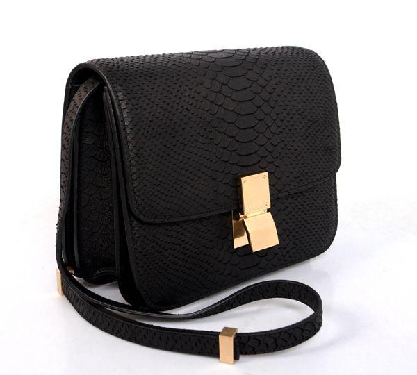 celine box bag 2013 black python $310 | Celine bags | Pinterest ...
