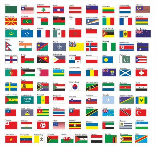 Banderas De Todos Los Países Del Mundo Parte 2 Ilustración De Stock Banderas Del Mundo Con Nombres Banderas Del Mundo Banderas De Todos Los Países