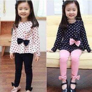 baby polka dots bows clothes set girls t shirt pants fashion suit303 x 302 | 24.6 KB | www.web4g.com
