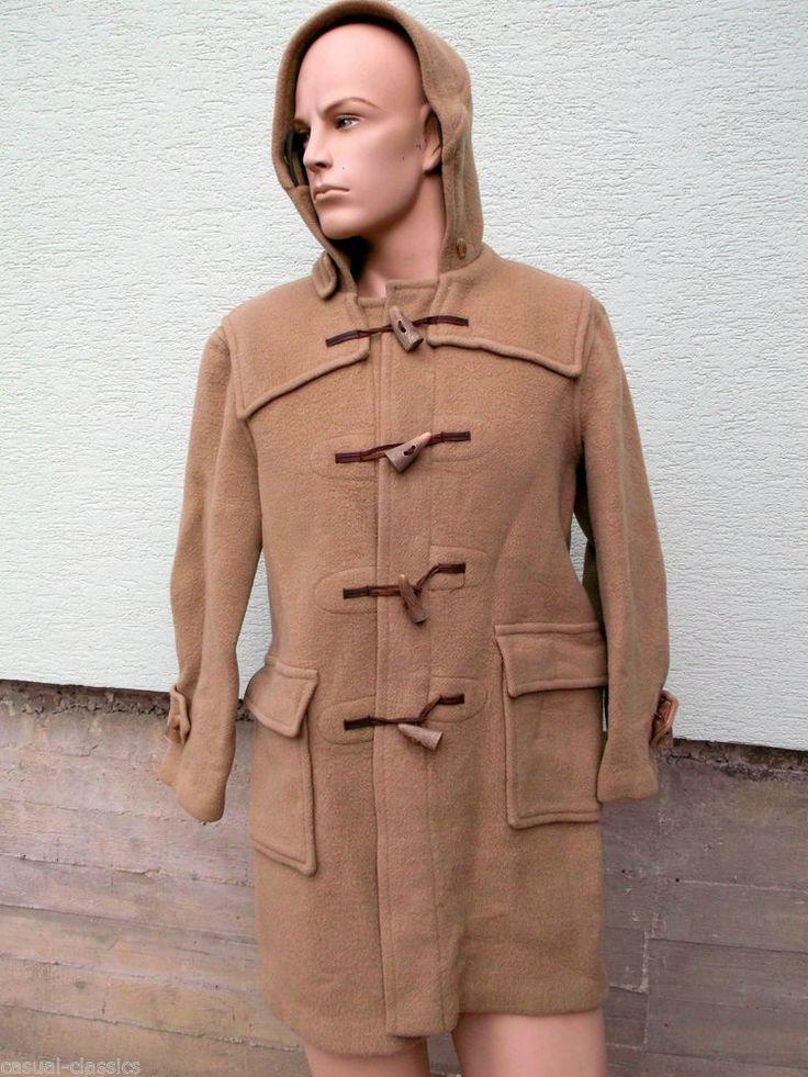 Men s BURBERRY Wool Authentic Camel Duffle Coat. Burberrys vintage size 44 chest