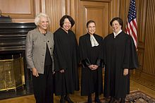 O'Conner, Sotomayor,Ginsberg,Kagan-Associate Justices of the Supreme Court of the United States