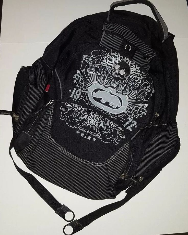 ECKO UNLTD Street Brigade multi pocket laptop Backpack Black  #Ecko #B#ECKOUNLTD #StreetBrigade #laptopBackpack