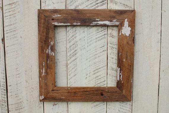 Reclaimed Wood Frame Artinspo Faded Memory