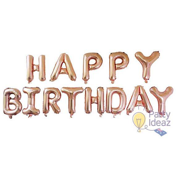 Rose Gold Birthday Decorations / Rose Gold Birthday Balloons /