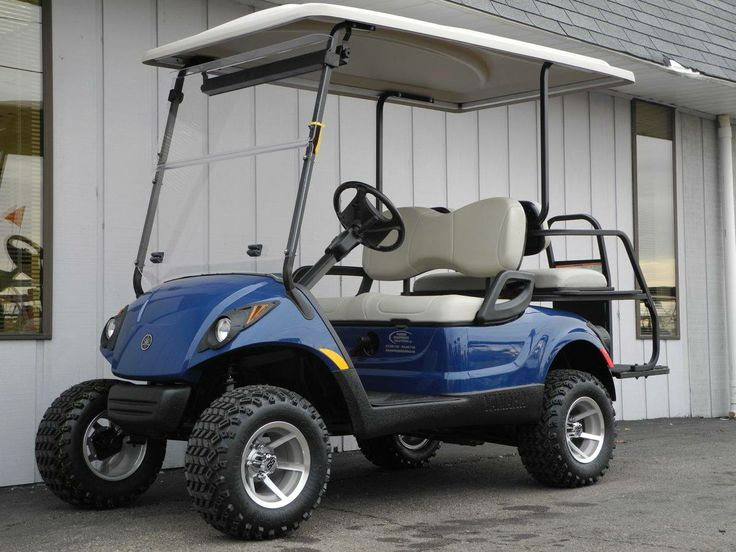This Gorgeous Custom Street Ready 2008 Yamaha DRIVE Gas Golf Car Is  Equipped With The Tanzanite Blue Blody, Premium Lights, Windshield,  Extended Top, ...